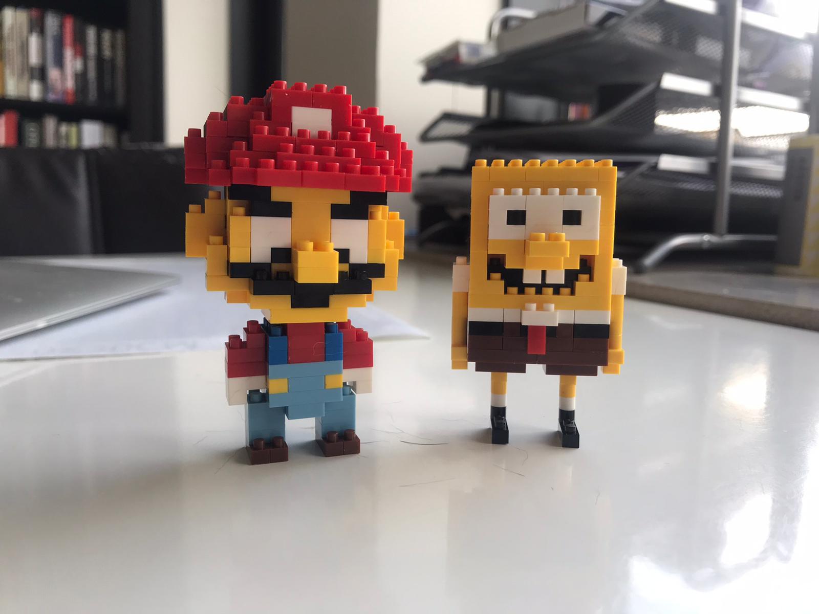 Miniblock Super Mario en Spongebob Squarepants